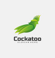 logo cockatoo gradient colorful style vector image vector image