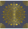 mandala vintage decorations elements gold color vector image