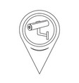 map pointer cctv camera icon vector image