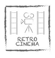 movie retro posters and flyers set vintage cinema vector image
