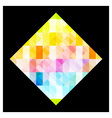 Multicolored rhombus vector image