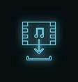 multimedia neon icon web development icon element vector image vector image