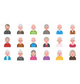 older people isolated on white background in flat vector image