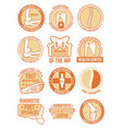 orthopedic and rheumatology medical clinic icon vector image