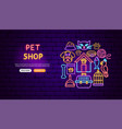 pet shop neon banner design