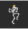 punk skeleton character dancing vector image vector image