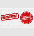 quarantine text set isolated transparent vector image vector image
