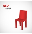 Red Chair Isolated vector image