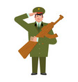 russian soldier and wood gun toys military vector image vector image