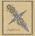 sagittarius or archer zodiac sign on frame vector image vector image