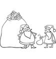 santa claus cartoon for coloring vector image vector image