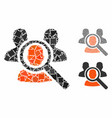 search patient mosaic icon tremulant elements vector image vector image