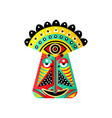 set colorful ethnic mask red green yellow vector image vector image