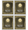 Set of restaurant menu cover design in vintage vector image vector image