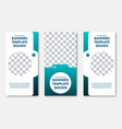 set of vertical banners with a place for photos vector image vector image