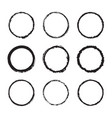 set round frames ink texture design vector image vector image