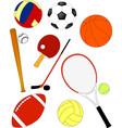 sport equipmen vector image vector image