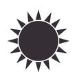 sun glow symbol icon vector image