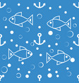 symmetric marine seamless pattern pastel colors vector image