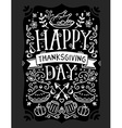 thanksgiving with roasted turkey vegetables vector image vector image