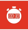 The 30 seconds minutes stopwatch icon Clock and vector image vector image