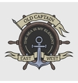 the emblem on marine theme vector image vector image