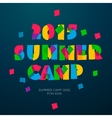 Travel themed Summer Camp poster vector image