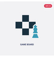 two color game board icon from sports concept vector image vector image