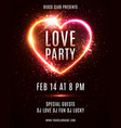 valentines day party poster template invitation vector image