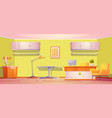 vet clinic room for medical aid and exam pets vector image