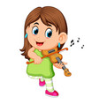 young woman playing violin vector image vector image