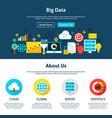 big data website design vector image