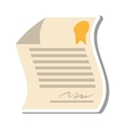 contract paper document isolated icon vector image