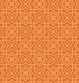 Brown Arabic Pattern vector image
