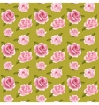 Seamless background with pink roses vector image