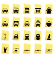 Transportation set of different web icons vector image