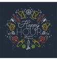 Flat alcohol monogram happy vector image