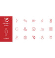 15 user icons vector image vector image