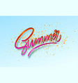 3d realistic red golden shiny metallic summer vector image