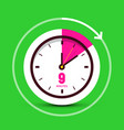 9 nine minutes time symbol clock icon vector image vector image