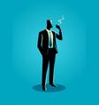 a businessman smoking vector image vector image