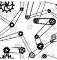 a lot black different silhouettes cogwheels vector image