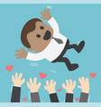 a successful african businessman toss up vector image