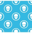Alien sign blue pattern vector image vector image
