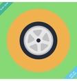 Auto wheel tire - Flat vector image