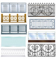 balcony railing vintage metal steel fence vector image