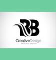 bb b b creative brush black letters design