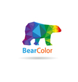 Bear abstract triangle vector image vector image