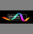 black banner with colorful abstract brush stroke vector image vector image