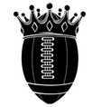 black silhouette ball with crown design american vector image vector image